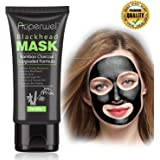 Blackhead Remover Mask Black Mask - Auperwel Purifying Quality Peel off Charcoal Deep Cleaning Mud Facial Mask 2.11 ounce
