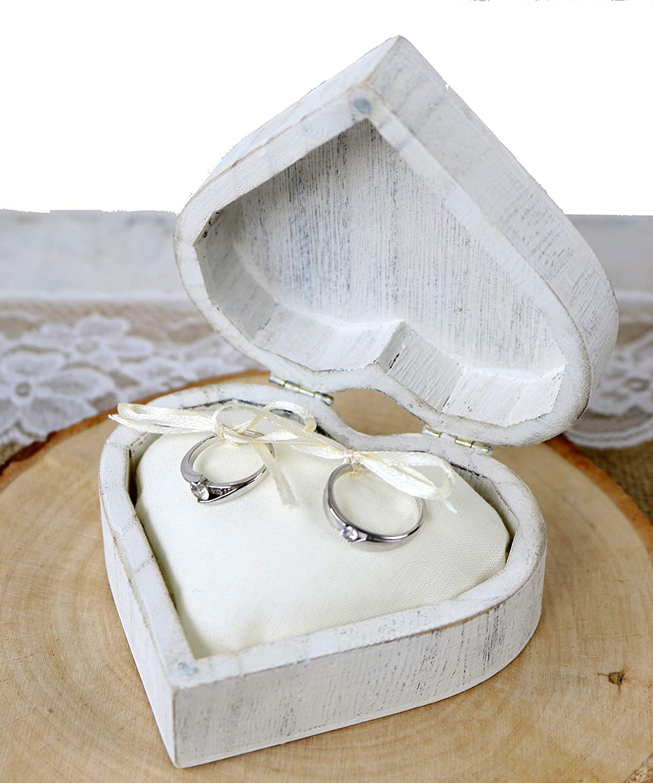 Ringschachtel aus Holz Sch/önes Holz Ringkissen Ringbox Hochzeit Holz Trauring Kissen Vintage Ringkissen Standesamt Ringkissen Hochzeit Vintage graviert