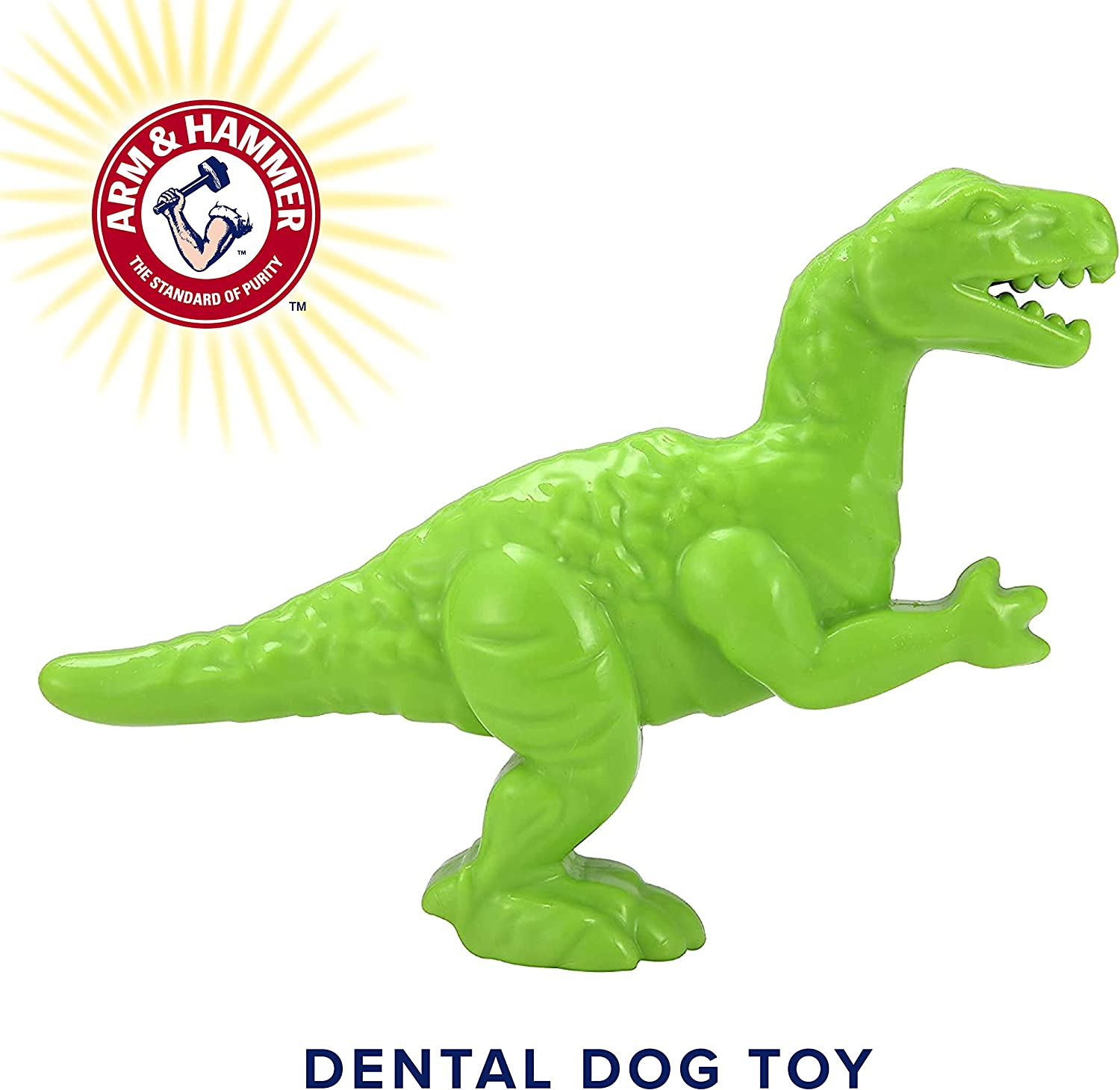 Arm & Hammer Nubbies Dental Toys T-Rex Dental Chew Toy for Dogs | Best Dog Chew Toy For Moderate Chewers | Reduces Plaque & Tartar Buildup Without Brushing, Mint Flavor