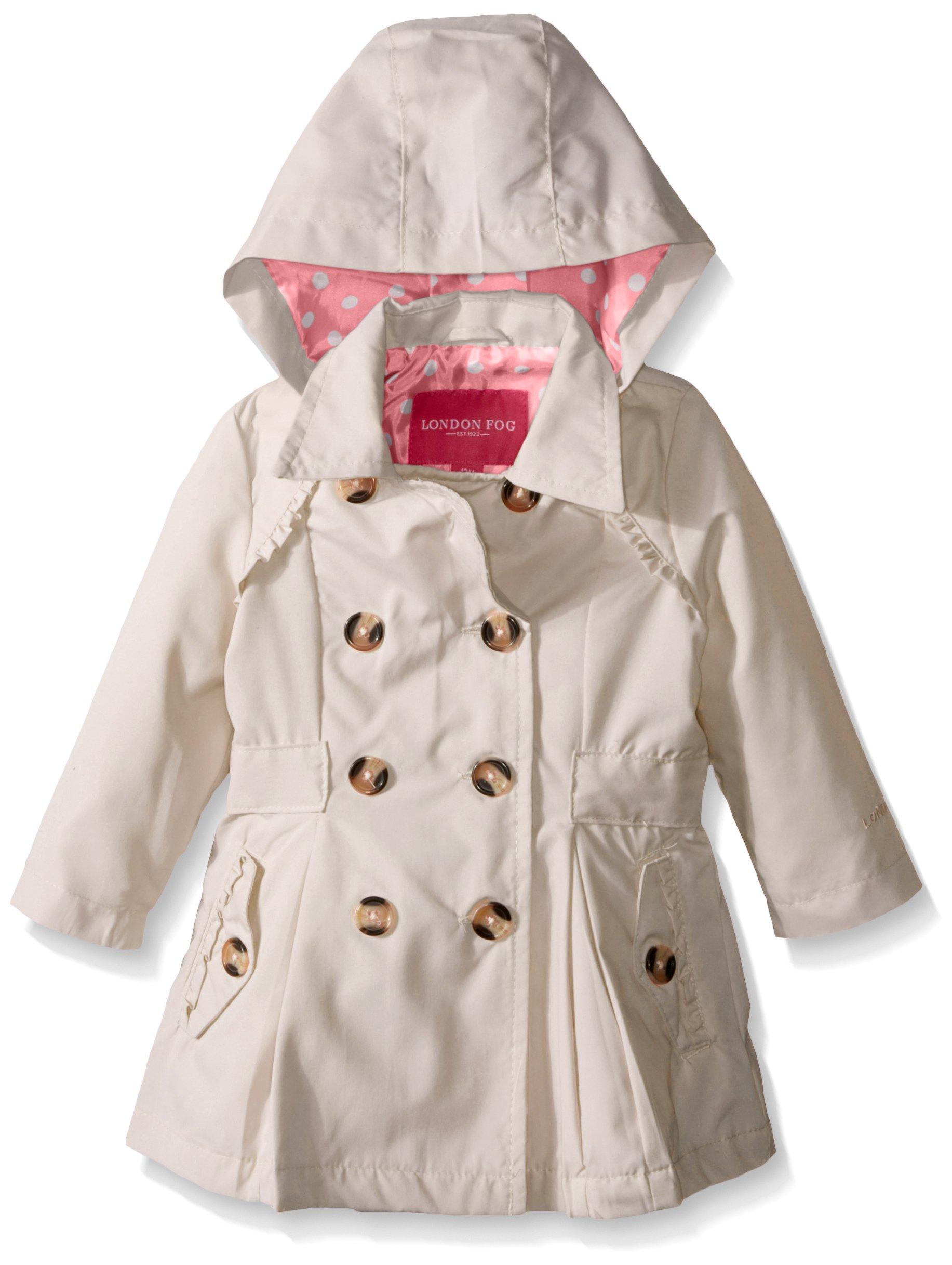 London Fog Baby Girls' Lightweight Trench Coat, Khaki, 12 Months