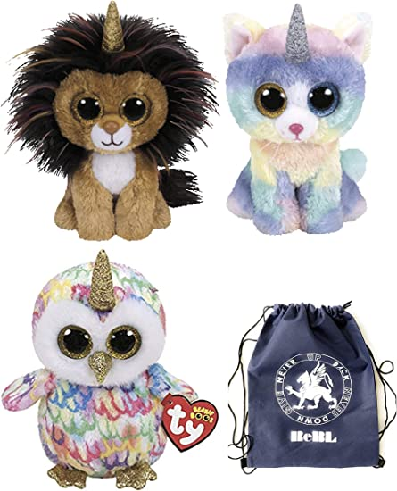 Ty Beanie Boo/'s 6/'/' Enchanted The owl with  Horned  Stuffed Plush Animals