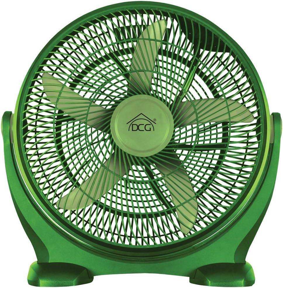 Bakaji Ventilador de pie Box Fan 90 W 50 cm temporizador 3 ...