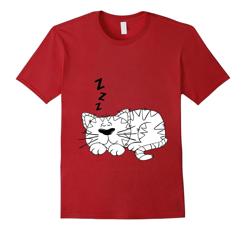 Cute Cat Sleep T-shirt for bedtime-FL