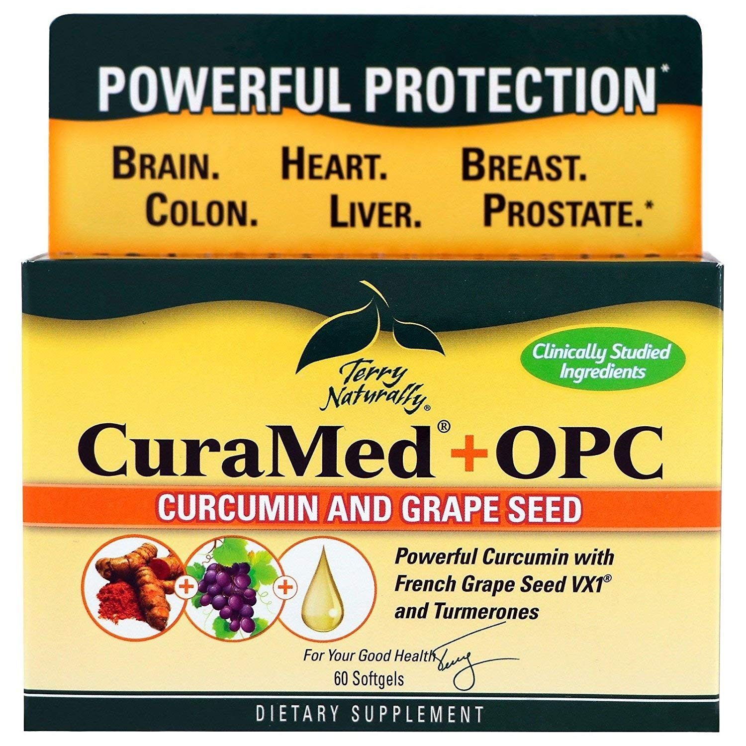 Terry Naturally/Europharma Curamed + OPC(PreviouslyBCM95 + OPC)-60 Softgels -2 Pack