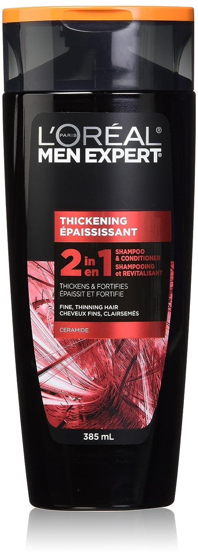 L'Oreal Paris Men Expert, Thickening 2 in 1, Mens Hair Shampoo and Conditioner, 385 ML L'Oreal Paris Men Expert