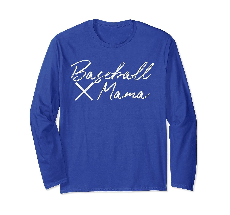 BASEBALL MAMA Long Sleeve Shirt For Her Mommy Mom Women Gift-alottee gift
