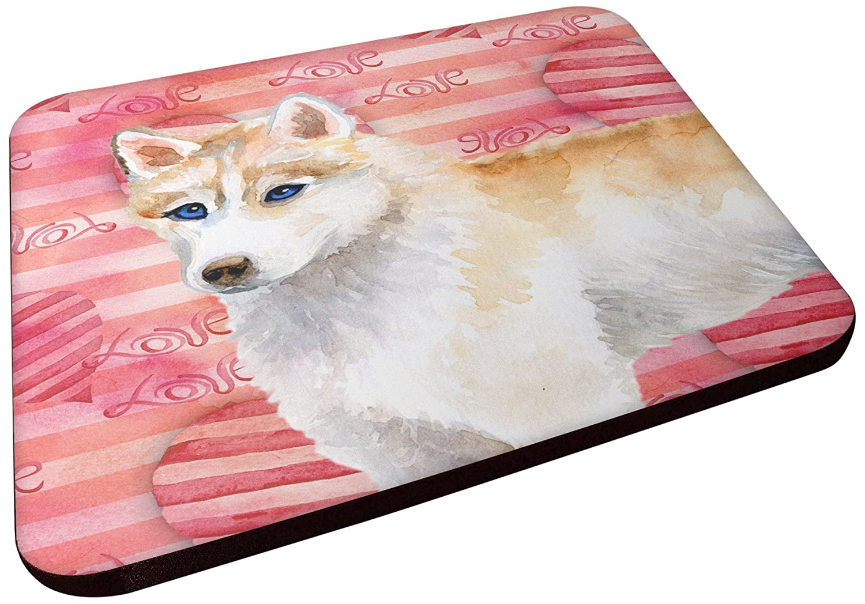 Carolines Treasures BB9742FC Siberian Husky Love Decorative coasters Multicolor