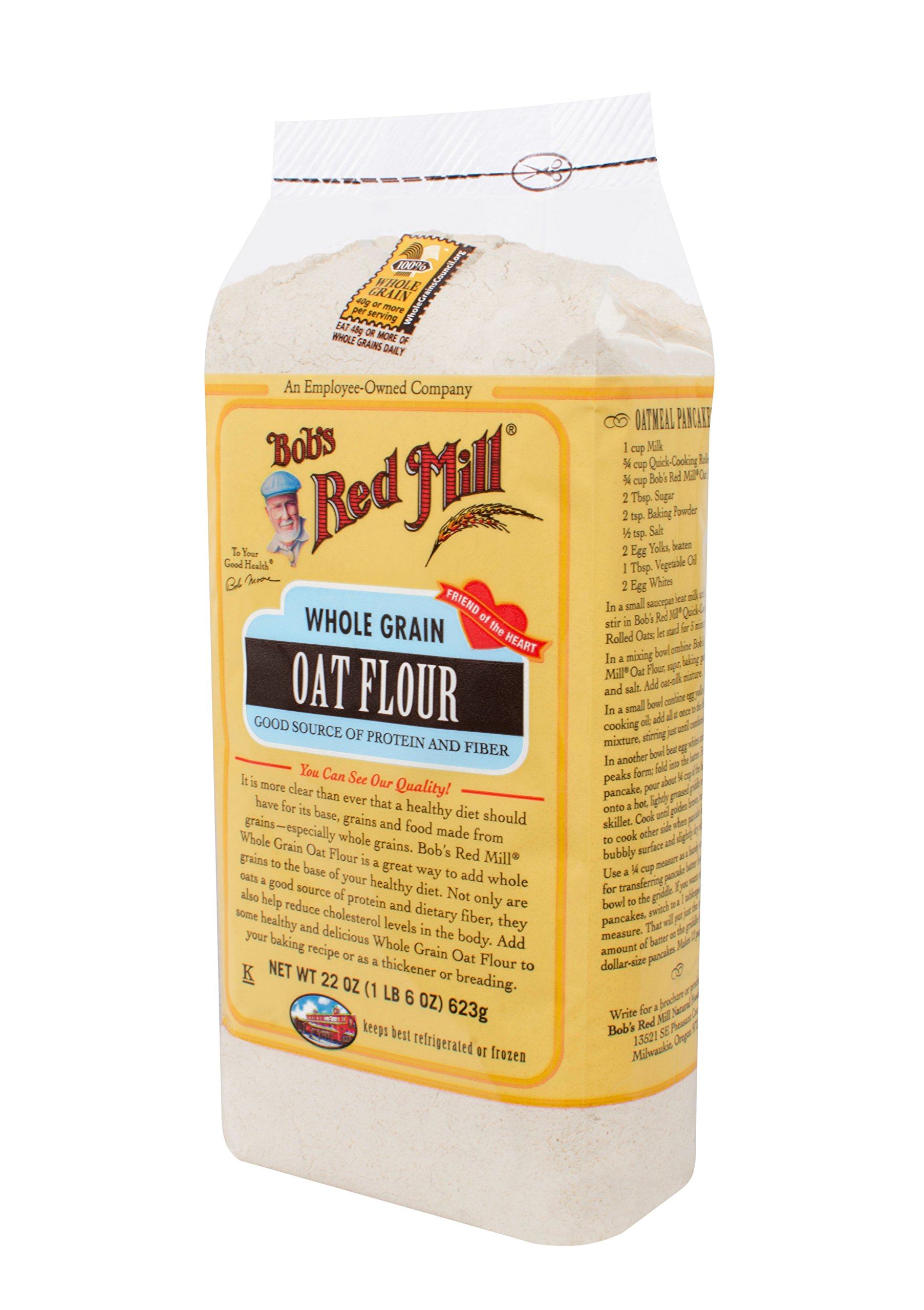 Bob's Red Mill Whole Grain Oat Flour, 22 Ounce (Pack of 4) by Bob's Red Mill (Image #4)