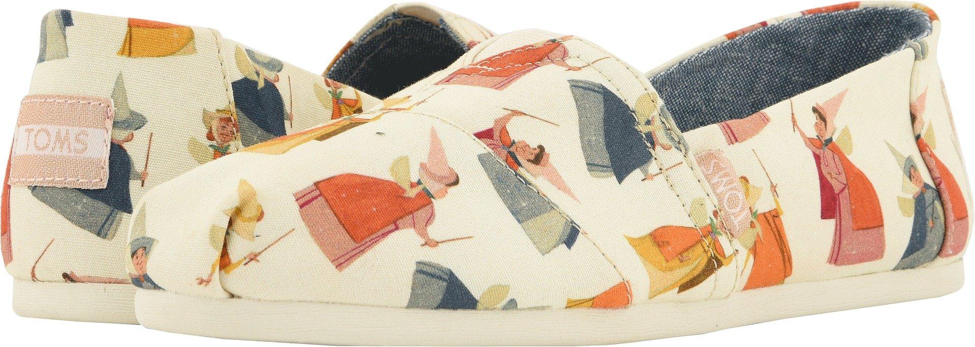 TOMS Women's Alpargata Cotton Espadrille, Size: 11 B(M) US, Color: NAT Fry Gmothr P CVS