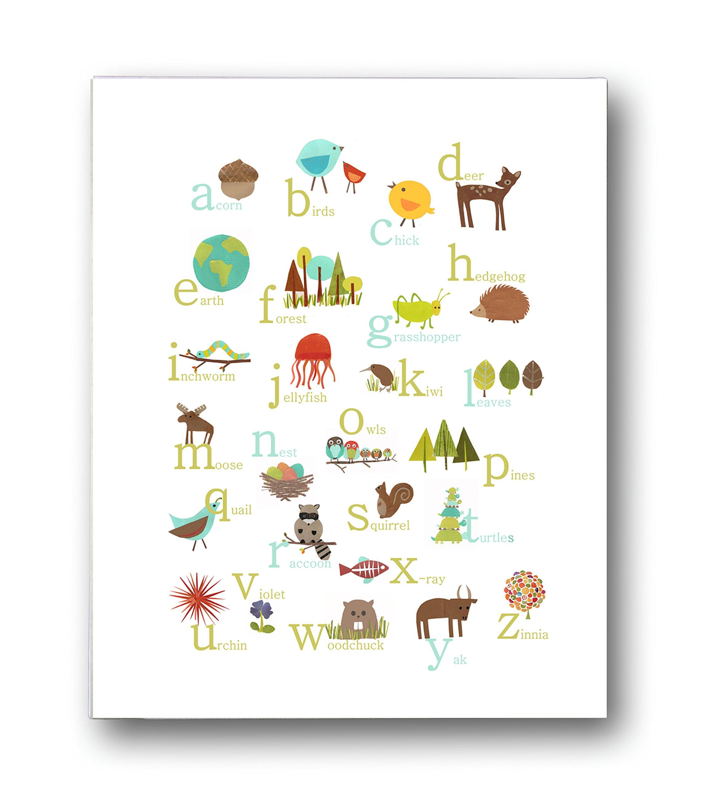 Baby Nursery Art Print Dog Abc Nursery Decor Alphabet Print: Amazon.com: Nature Themed Spanish Alphabet Wall Art Print