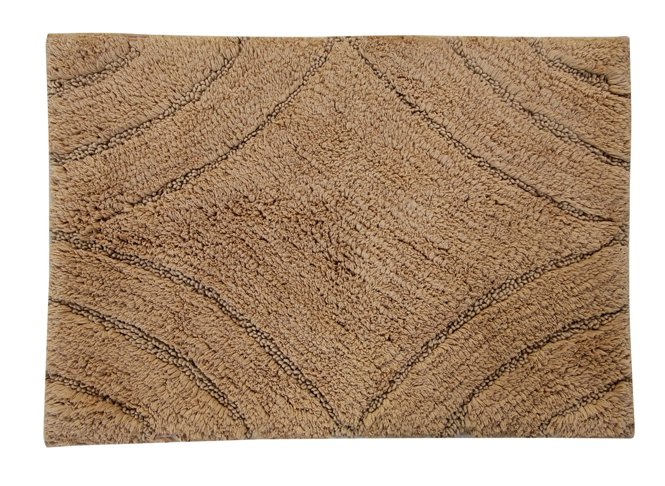 Castle Hill 20 W x 30 L Bathroom Rug Taupe Textile Decor CH-BR-20x30-DMN-TP
