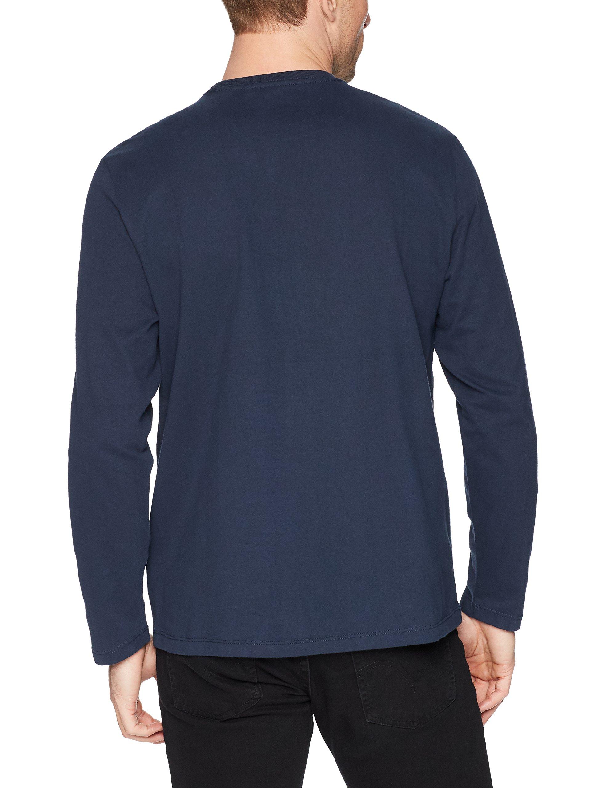 Amazon Essentials Men's Regular-Fit Long-Sleeve T-Shirt, Navy, Medium by Amazon Essentials (Image #4)
