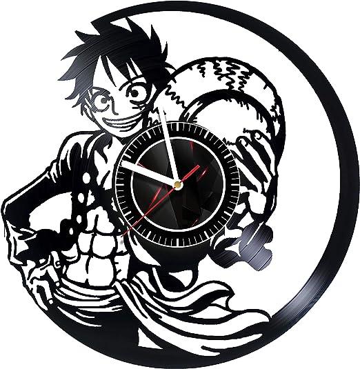 Amazon Com Svitshop One Piece Wall Clock Made Of Vinyl Record Handmade Unique Design Incredible Gift Idea For Christmas Birthday Women Men Boyfriend Girlfriend Teens Friends Anime Home Kitchen