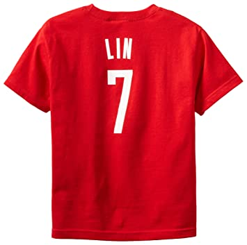 Outerstuff NBA Houston Rockets Jeremy Lin Youth 8 – 20 manga corta nombre & número camiseta
