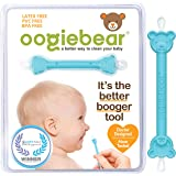 oogiebear - Patented Nose and Ear Gadget. Safe, Easy Nasal Booger and Ear Cleaner for Newborns and Infants. Dual Earwax and S