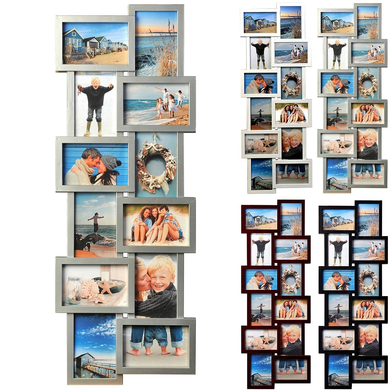Amazon.de: BR9725 Bilderrahmen, 12 Fotos Collage, Kunststoff Rahmen ...