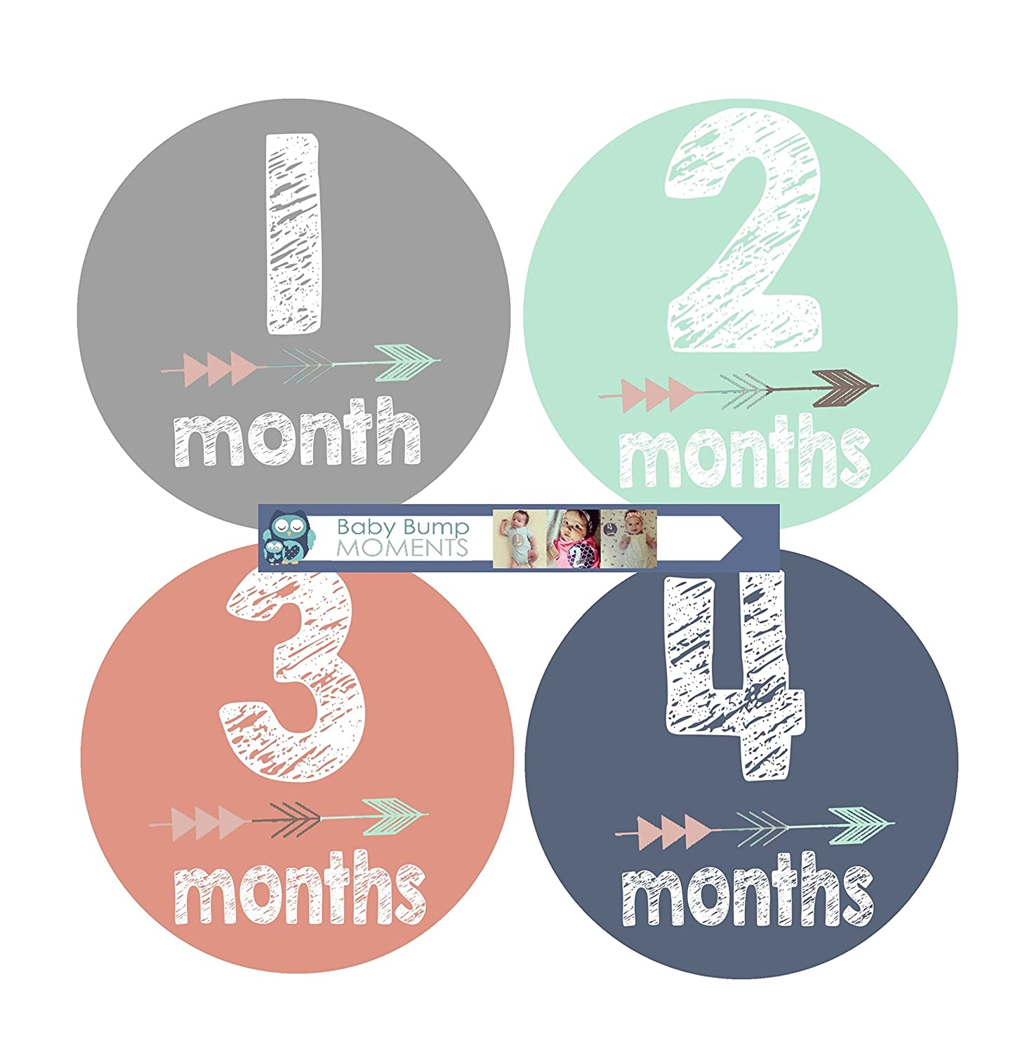 Baby Month Stickers Tribal Arrow