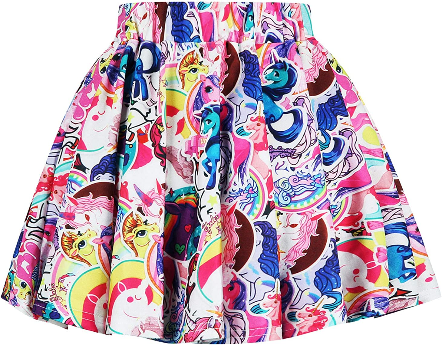 Ocean Plus Ragazze Gonna Plissettata Colorate Gonna a Pieghe Mini Anni 50 Vintage Tutu da Ballo Multicolore a Vita Alta