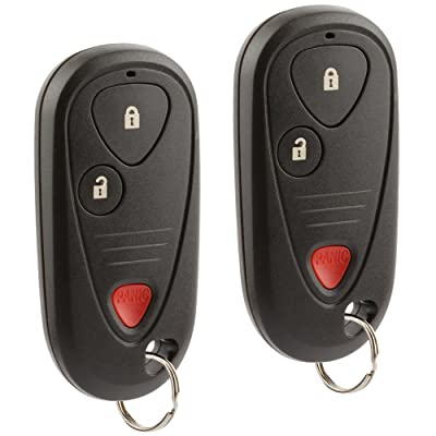 Car Key Fob Keyless Entry Remote fits 2001-2006 Acura MDX / 2006 Acura RSX (E4EG8D-444H-A, G8D-444H-A), Set of 2: Automotive