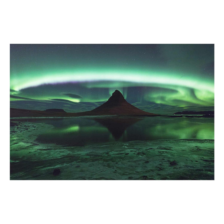 Bilderwelten Glasbild - Polarlicht in Island - Quer 2 3, Größe HxB  40cm x 60cm