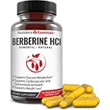 Pure Berberine 500mg Complex - Premium Support for Blood Sugar, Weight Loss, Cardiovascular & Gastrointestinal Health – HCl Supplement, Non-GMO, Gluten Free, USA, 60 Vegetarian Capsules