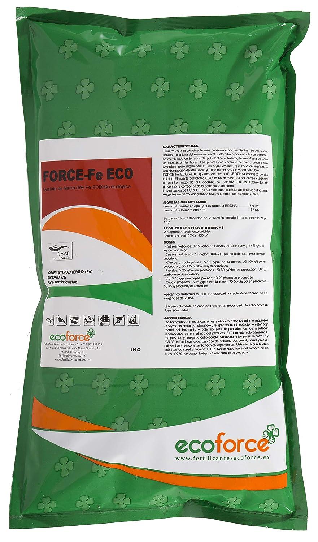 CULTIVERS Quelato de Hierro Fertilizante Ecológico de 1 Kg. Nutriente Fundamental para Las Plantas Que interviene en numerosas Funciones vitales