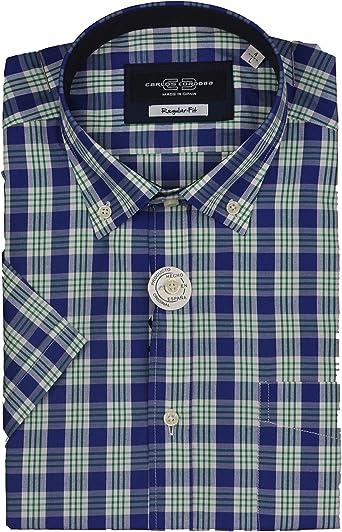 Carlos Cordoba - Camisa Manga Corta Cuadros - Azul, XL/5: Amazon.es: Ropa y accesorios