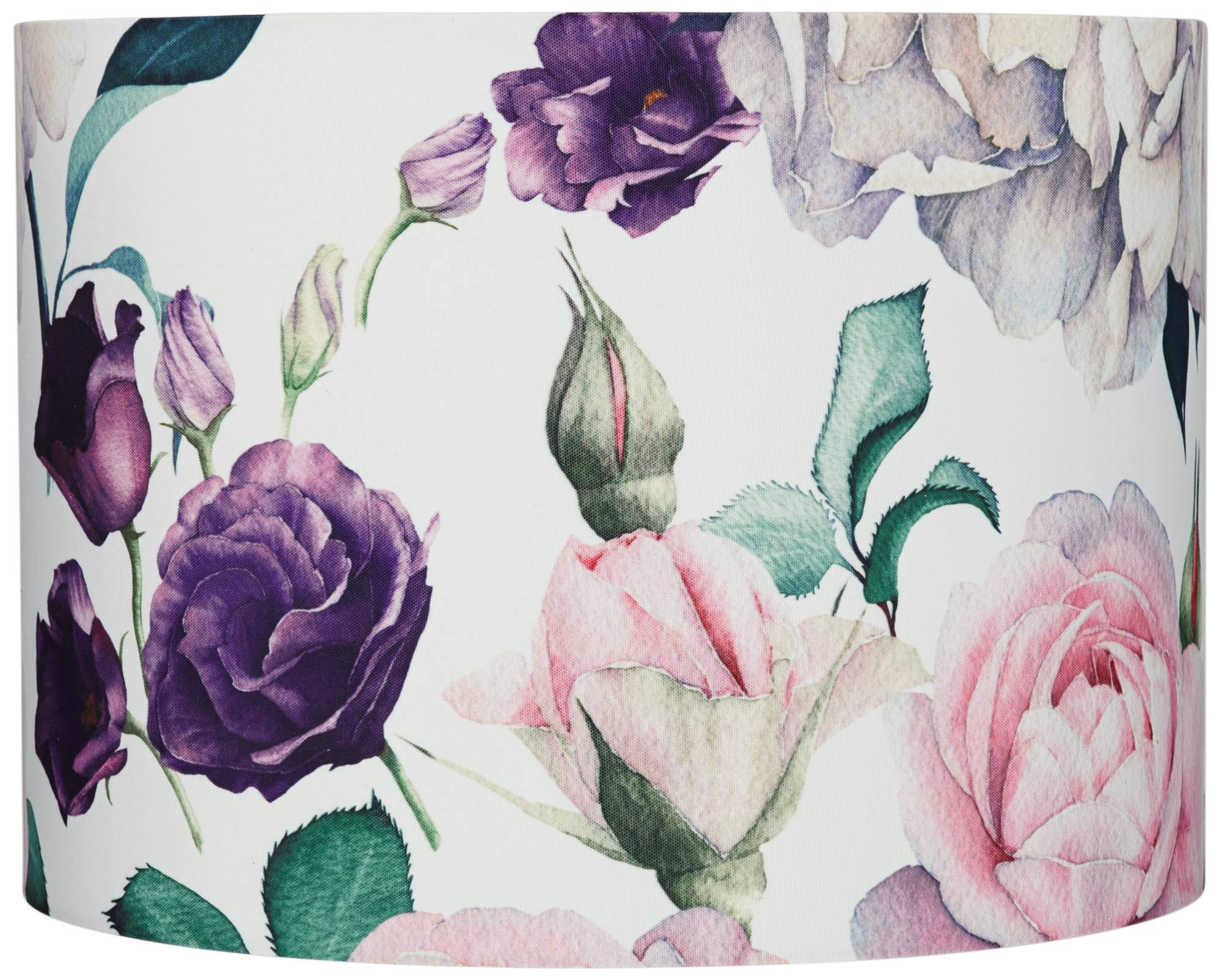 Blush Rose Floral Drum Lamp Shade 15x16x11 (Spider) - Springcrest
