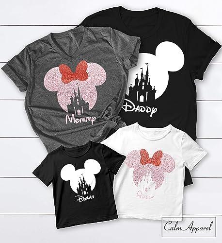 8fb70c512 Amazon.com: Family Vacation Shirts, Mickey Minnie Matching Trip T-Shirts  2019, Ladies Summer Castle Tanks: Handmade