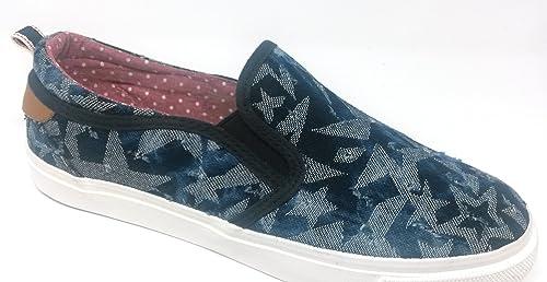 Wrangler - Mocasines de Lona para Mujer Azul Azul 40 EU: Amazon.es: Zapatos y complementos