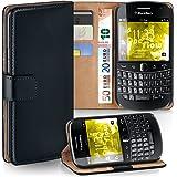 Pochette OneFlow pour BlackBerry Bold 9900 housse Cover avec fentes pour cartes   Flip Case étui housse téléphone portable à rabat   Pochette téléphone portable étui de protection accessoires téléphone portable protection bumper en DEEP-BLACK