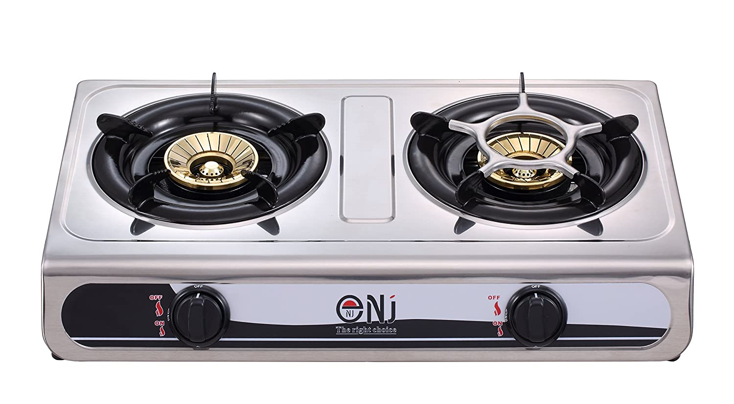 NJ NGB-60 Gas Stove 2 Burner Stainless Steel 60cm 7.6kW Outdoor