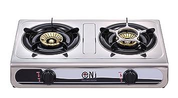 NJ ngb-60s acero inoxidable hornillo de gas 2 quemador 60 cm 7.6 kW de