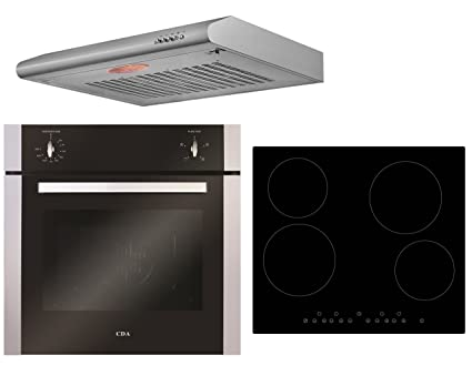 Cda electric built in single fan oven cookology ceramic hob visor cda electric built in single fan oven cookology ceramic hob visor hood pack ccuart Choice Image