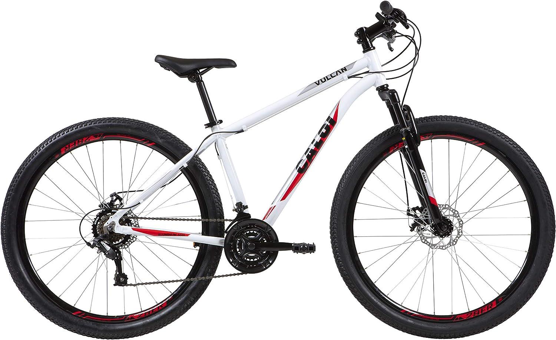 Bicicleta Aro 29 Caloi Vulcan Branca Tam. 17