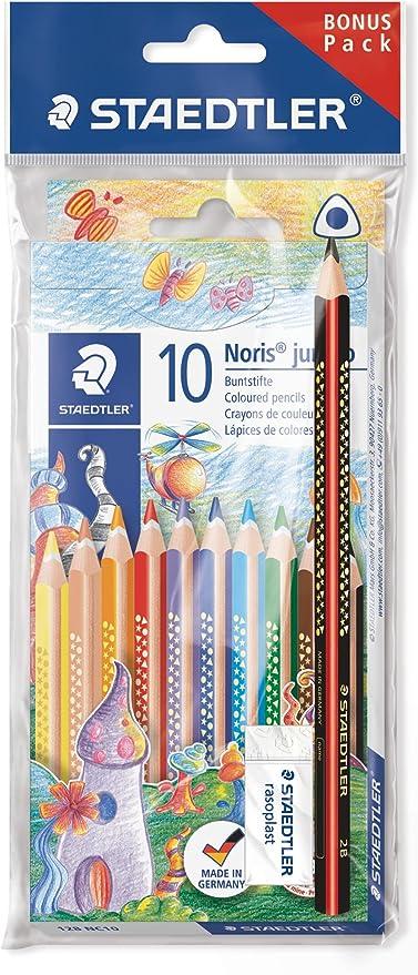 1 Radierer und Bleistift 12 x Staedtler Farbstifte Noris Club Farbstifte