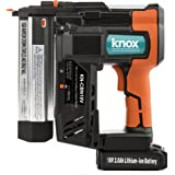 Knox Cordless 18V Li-Ion 18-Gauge Brad Nailer and Stapler with 2 Battery Packs Included