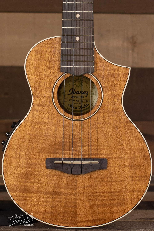 Ibanez uew15e llama Electroacústica ukelele de concierto madera de caoba
