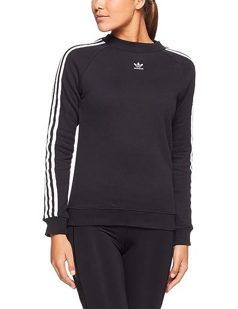 online store 1bba6 2829c adidas TRF Crew Sweat – Felpa, Donna, Nero (Nero)