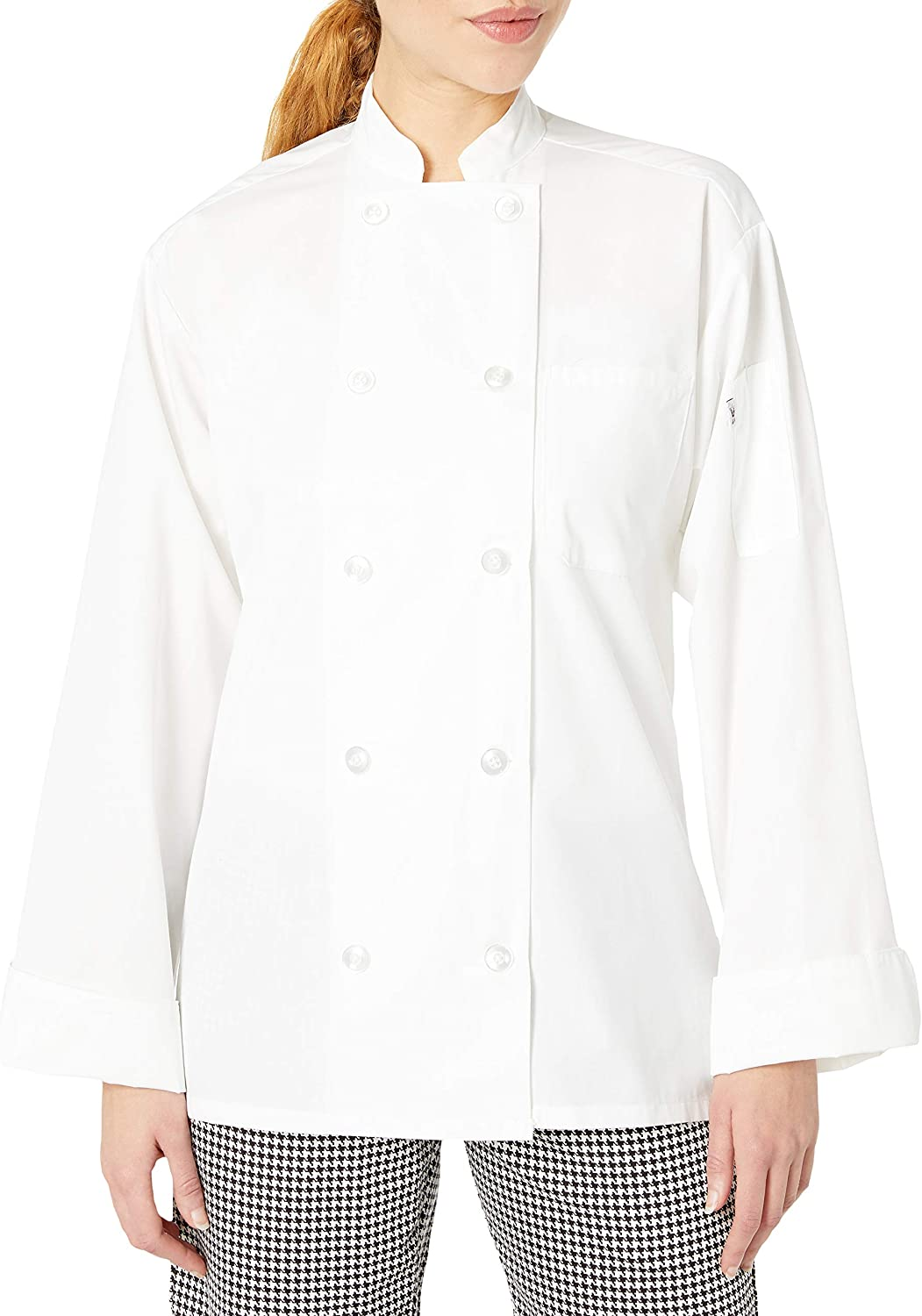 Uncommon Threads Women's Chef Coat 10 Btn 5.25oz: Clothing