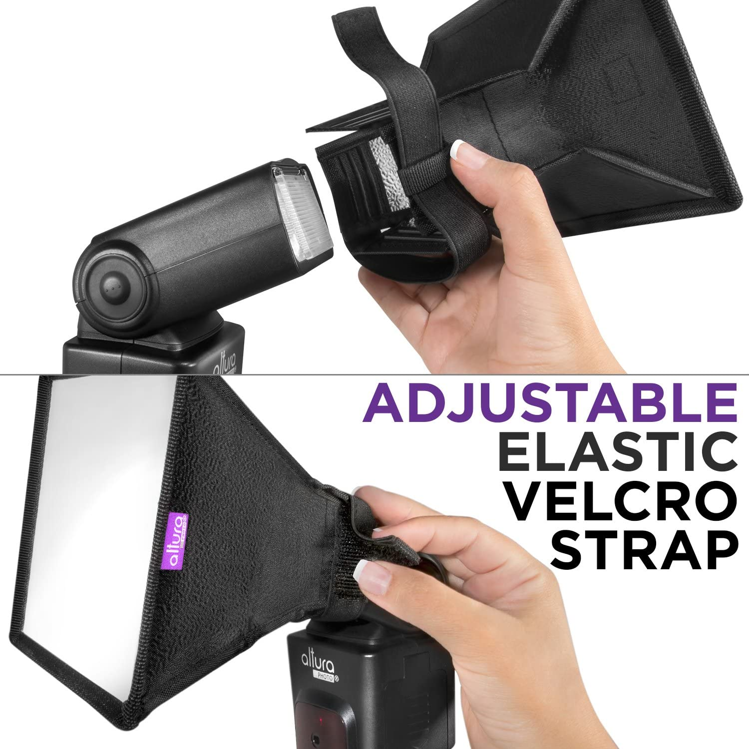"""for Canon Flash Diffuser Light Softbox 11x8/"""" by Altura Photo Universal, Collapsible with Storage Pouch Yongnuo and Nikon Speedlight"""