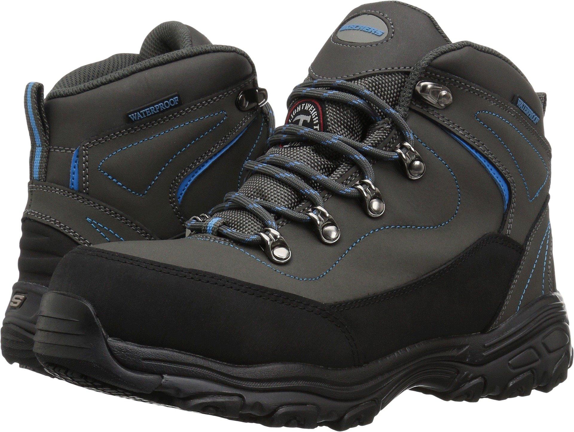 Skechers for Work Women's D Lite Amasa Work Boot, Gray Blue, 8.5 W US
