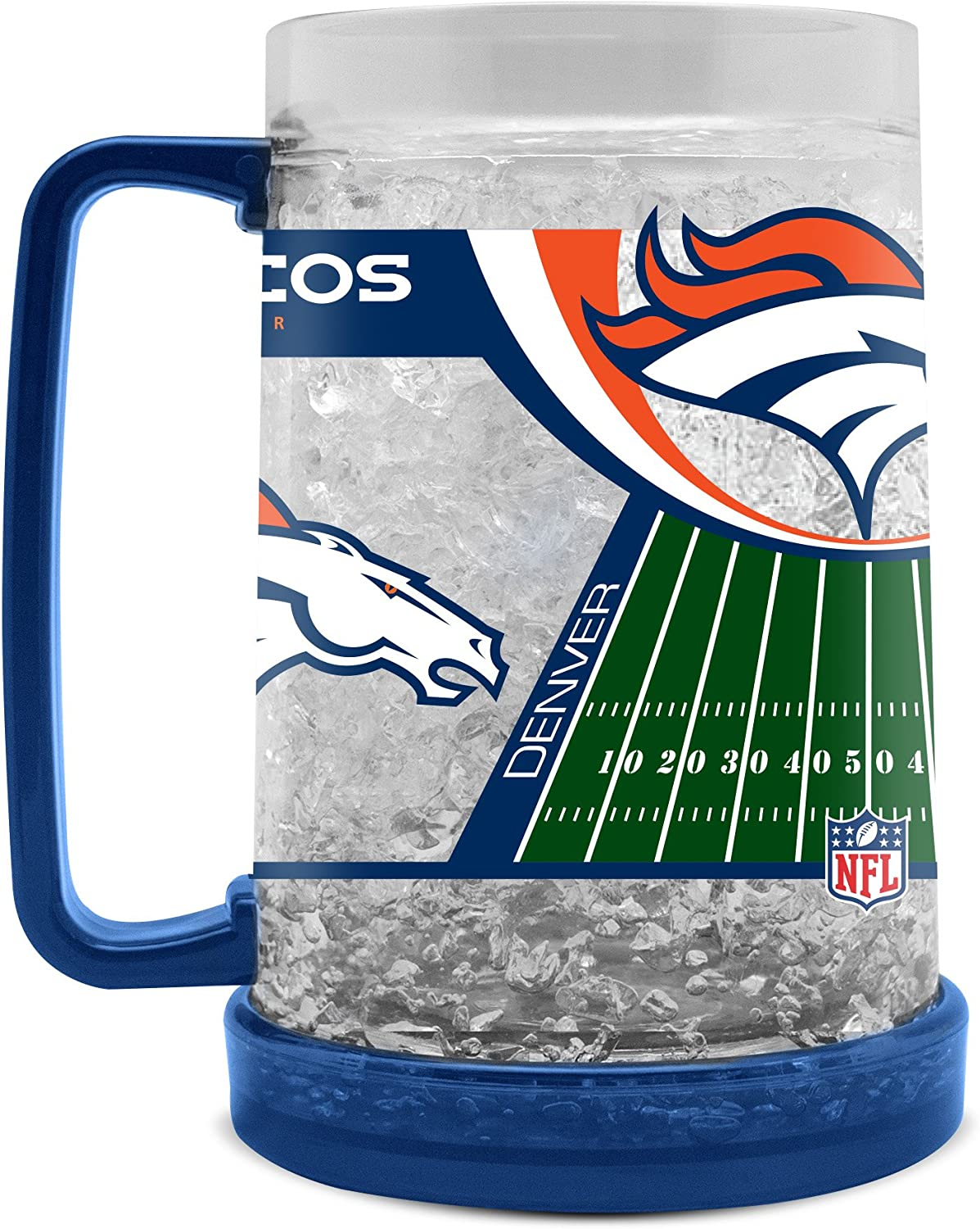 NFL Denver Broncos 16oz Crystal Freezer Mug