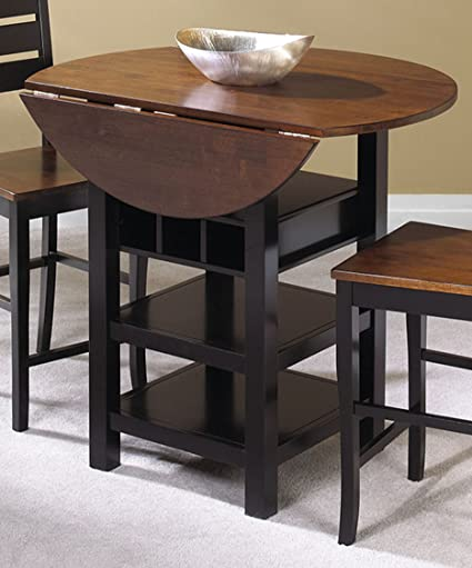 Amazon Com Sunset Trading Quincy Pub Table With Cherry Finish Drop