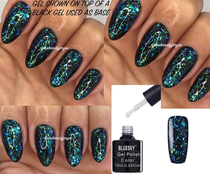 Bluesky Galaxy 07 Chameleon Flakes Nail Gel Polish UV LED Soak Off ...
