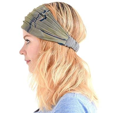 0cbeff3f3b46ac Casualbox Damen Stirnband Headband Bandana Band Hand gefärbt Japanisch Haar  Marmor Dunkelblau