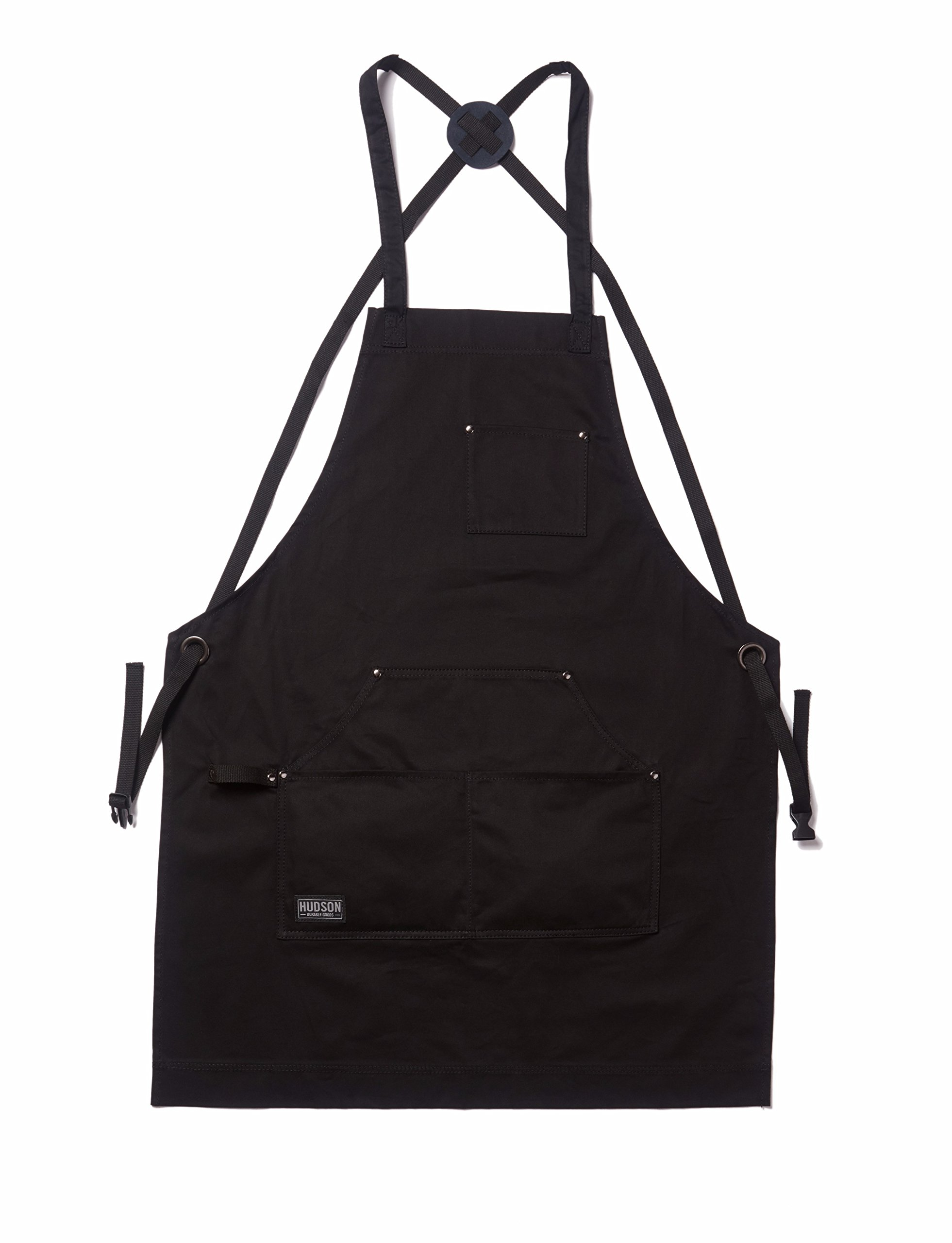 Hudson Durable Goods - Professional Grade Chef Apron for Kitchen, BBQ, and Grill (Black) with Towel Loop + Tool Pockets + Quick Release Buckle, Adjustable M to XXL by Hudson Durable Goods (Image #8)