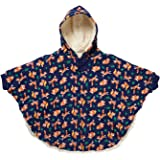 6ec99606a7ec Piccalilly Organic Cotton Unisex Navy Blue Fox Print Hooded Poncho