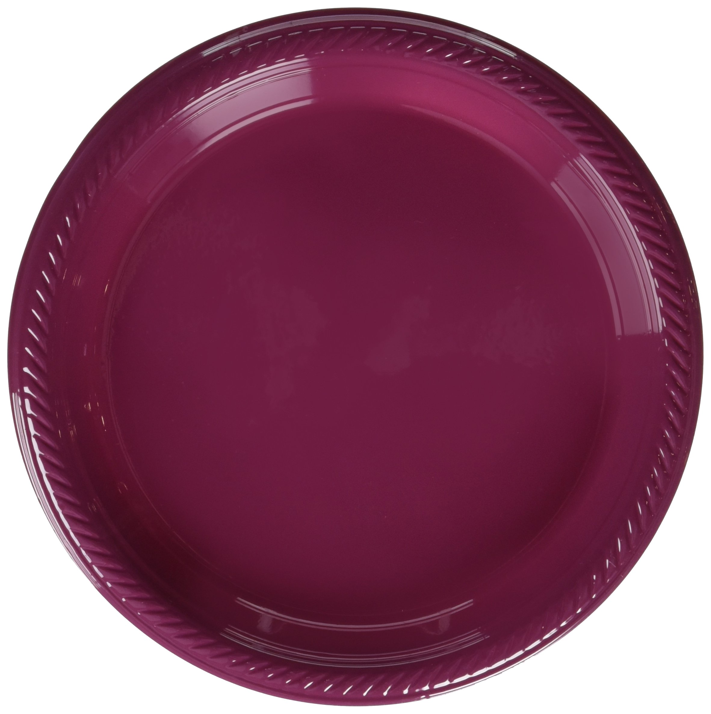 Big Party Pack Berry Red Plastic Plates | 7'' | Party Supply | 300 ct.
