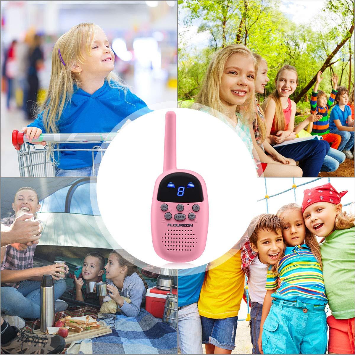 Spronto Kids Walkie Talkies 9 Channel Two Way Radio Twins Walkie Talkies FRS//GMRS Handheld Interphone Long Range for Trips Outdoor Activities Blue